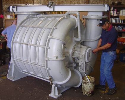 Hoffman centrifugal blower repair at PP&S